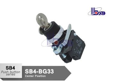 Professional Electrical  Selector Key Switch ROHS And UL Certified