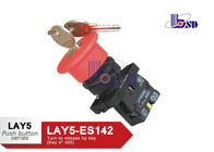 Red Emergency Stop Push Button Switch / Emergency Stop Switch With Key